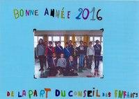 Le Conseil Municipal des Enfants vous souhaitent une bonne année 2016
