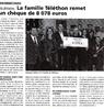 La famille Téléthon remet  un chèque de 8078 euros  Le Bulletin Le 29 décembre 2015