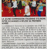 La jeune commission italienne  d'EIE a réussi sa première soirée  Le Bulletin Le 6 octobre 2015