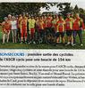 Première sortie des cyclistes  de l'ASCB cyclo  pour une boucle de 154km  Paris Normandie Le 20 mai 2015