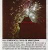 Feu d'artifice  et feu de Saint-Jean  Le Bulletin Le 30 juin 2015