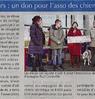 Bonsecours : un don pour l'asso  des chiens guides  Le Bulletin Le 1er décembre 2015