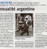 Sensualité argentine Paris Normandie Le 12 mars 2015