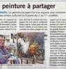 Une peinture à partager  Paris Normandie Le 29 septembre 2015