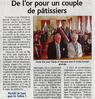 De l'or pour un  couple de pâtissiers  Le 26 mai 2015 Le Bulletin