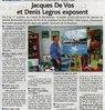 Jacques De Vos et Denis Legros exposent  Le Bulletin Le 29 septembre 2015