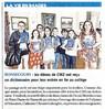 Les élèves de CM2 ont reçu un dictionnaire pour leur entrée en 6e au collège  Paris Normandie Le 30 juin 2016
