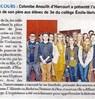 Colombe Anouilh d'Harcourt a présenté l'oeuvre et la vie de son père aux élèves de 3e du collège Emile VERHAEREN  Paris Normandie Le 25 mai 2016
