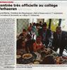 Rentrée très officielle au collège Verhaeren Le Bulletin Paru le 6 septembre