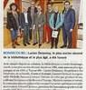 Lucien Delannoy, le plus ancien abonné de la bibliothèque et le plus âgé, a été honoré  Paris Normandie Le 31 mars 2016