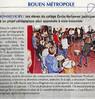 Des élèves du collège Verhaeren participent à un projet pédagogique pour apprendre à vivre ensemble  Paris Normandie Le 30 avril 2016