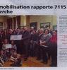 la mobilisation rapporte 7115 euros à la recherche  Le Bulletin Paru le 20 décembre 2016