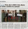 Près de 5000 € de dons pour la lutte contre le cancer  Le Bulletin Paru le 1er novembre 2016