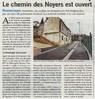 Le chemin des Noyers est ouvert  Paris Normandie Le 29 mars 2016
