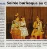 Soirée burlesque au Chartil  Le Bulletin Le 9 février 2016