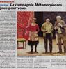 La compagnie Métamorphose joue pour vous  Le Bulletin Paru le 13 décembre 2016